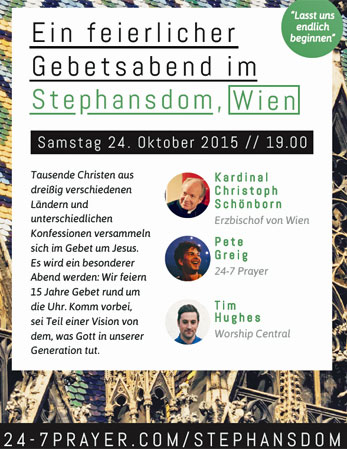 24-7 Gebetsabend im Stephansdom