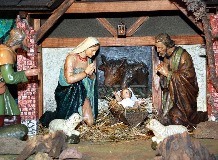 Bilder Krippe Weihnachten.Krippen Symbole Für Weihnachten