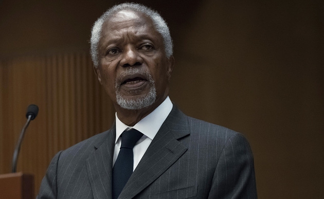 Kofi Annan, Former Secretary-General of the United Nations, Chair of the Kofi Annan Foundation during Global State of Democracy.29 November 2017. UN Photo / Jean-Marc Ferr?