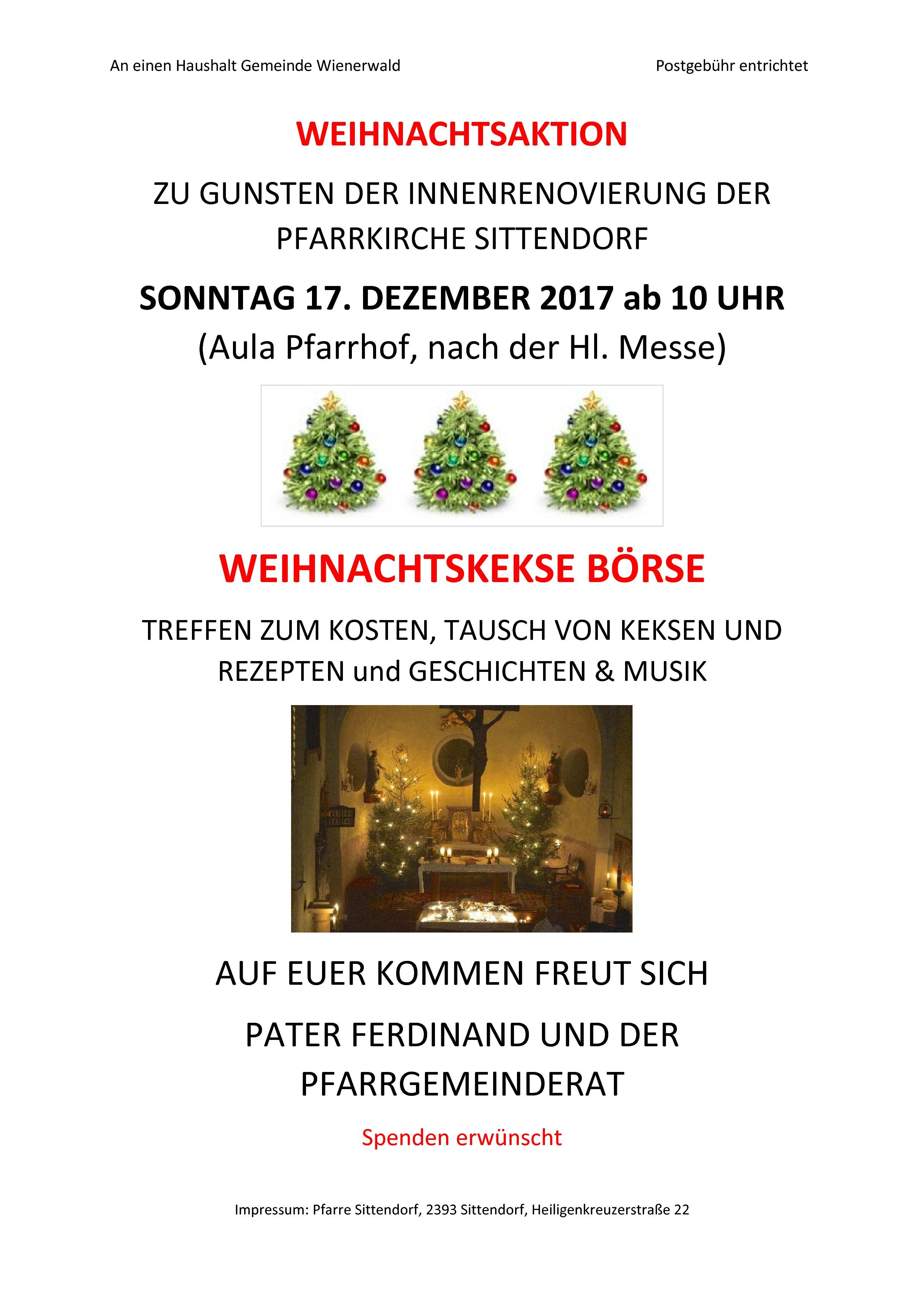 Weihnachtskekse Preise 2019.Erzdiözese Wien