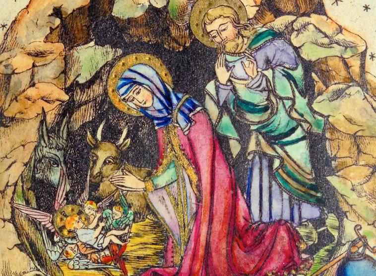 Weihnachtsbilder Italienisch.Weihnachtsevangelium