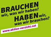 Plakat Aktion Verzicht, www.aktionverzicht.at